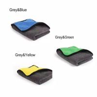 Microfiber/Kain Lap Microfiber 40x30cm 800GSM (Blue Gray)2 Sisi Halus