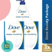 Paket Dove Deeply Nourishing Body Wash Pump   Refill