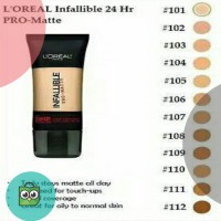 L'oreal Loreal Infallible pro matte Liquid Foundation 102 / 105