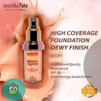 Foundation High Coverage Dewy SPF 30 warna IVORY Mustika Ratu Beauty