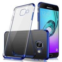 CASE SAMSUNG A5 2017/A7 2017 TPU PLATING SOFT CASING COVER ULTRA THIN
