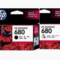 paket HP catridge 680black dan 680 colour