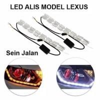 lampu led alis kristal 30cm bisa sein running drl kristal fleksible