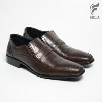 Sepatu Pantofel Pria Formal Slip On Loafers Fordza Kulit Asli F7007