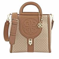 Lescatino Shanghai Tacky Satchel Bag Wanita - Gold Brown