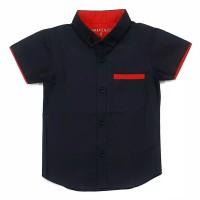 Hem kemeja baju katun anak bayi 1-10 tahun hitam polos