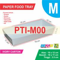 WHITE Paper Tray / Piring Kertas Ukuran M - 18 x 11 x 3.5 cm