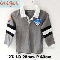 Kaos Lengan panjang berkerah anak branded cat n jack