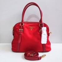 Tas Prada original - Prada 1BB013 Bauletto Tessuto Saffiano Rosso cb