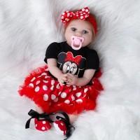 Boneka Reborn Baju Minnie / Boneka Mirip Bayi NPK