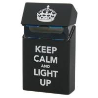 1A1C Cover Kotak Rokok Silicone Motif Keep Calm and light Up - Black