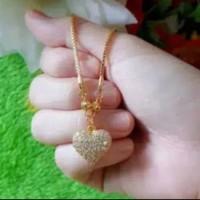 Xuping Kalung Love Lapis Emas 24k