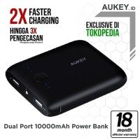 Aukey PB-N42 Pocket 10000mAh Power Bank - Black Color