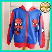 Jaket Anak Cowok Merah Biru Keren Import Murah/Sweater Spiderman -