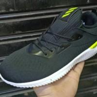Sepatu Sneakers Adidas Alphabounce Hitam Hijau Men Cowok Pria 40-44 -