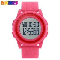 Jam Tangan Wanita Cewek Original Skmei Casio Led Digital Anti Air -