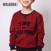 Welborn Kids Sweater Maroon Everything Anak Laki