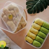 durian kupas + pancake mini/regular paket