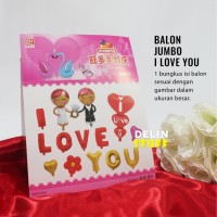 Balon Set I Love You Birde & Groom Wedding High Quality