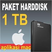 Paket USB Harddisk 1 TB Full Software Mac (Bebas Pilih)