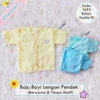 Baju Baby Lengan Pendek Polos Warna halus lembut murah berkualitas