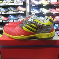 Sepatu Badminton Bulutangkis Hart HS 503 Merah Kuning Original