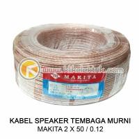 Kabel Makita 2 x 50 100m Kabel Speaker Transparan Tembaga 2X50