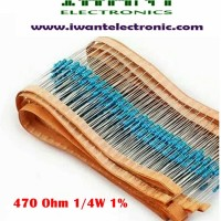 Resistor 470 Ohm Metal Film 1/4W 1%