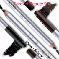 Wardah Eyebrow Pencil with brush - Pensil alis coklat / hitam + sikat