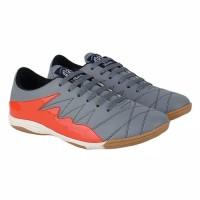 Sepatu Futsal Abu Kombinasi Bahan Sintetis Lokal Original Brand