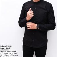 Baju Kemeja Pria Lengan Panjang Polos Kerah Shanghai Premium Original
