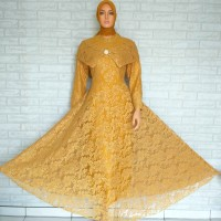 Dress /Gamis Pesta Brukat Glitter Sabrina (Real Picture)