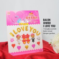 Balon Bride Groom Foil I Love You Set