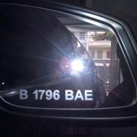 Sticker / Stiker Grafir Nopol / Plat Nomor Kaca Spion Mobil