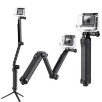 Tripod Tongsis Tongkat Selfie Gopro 3 Batang Lipat Penyesuai - HEL026