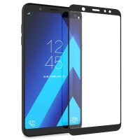 Tempered Glass Full Cover Samsung Galaxy A6+ Plus / Anti Gores Kaca