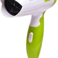 Kemei Hair Dryer KM-3326 / Hair dryer lipat mini travel praktis-hijau