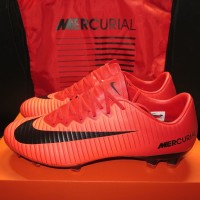 Nike Mercurial Vapor XI FG - Red. Sepatu Bola Profesional Top Mantab.