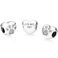 Pandora Charm I Love My Pet Heart Shape Original New