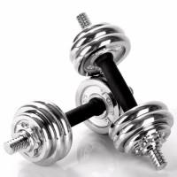 Dumbel Barbel Set Max 15kg Dumbell Dumble Alat Fitness 2 Pcs LX 014-1