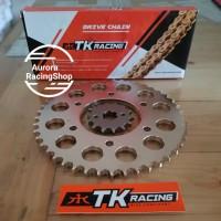 Gear Set TK 428 Vixion Old / New Vixion & Rantai TK 428 HS Gold