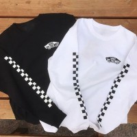 T-Shirt / Baju / Kaos Vans Long sleeve Checkerboard