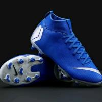 sepatu bola anak nike jr vapor XI superfly academy fg blue original