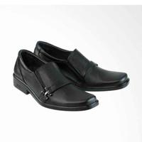 Golfer Formal Shoes Kulit Pantofel Sepatu Pria - Black [3004]