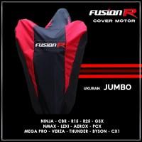 Cover Motor FUSION R Jumbo / Sarung Motor Nmax Lexi PCX Ninja CBR GSX - Merah
