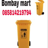 tempat sampah besar 120 liter daltun warna kuninh
