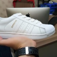 Promo Sepatu Adidas Superstar Full White Putih Grade Original Limited