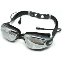 Grilong Kacamata Renang dengan Penutup Telinga - A380 - Black