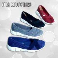 Sepatu Sneakers Slip On Fashion Kasual Wanita Mesh Ap69