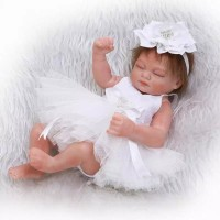 Boneka Reborn White Dress / Boneka Bayi / NPK